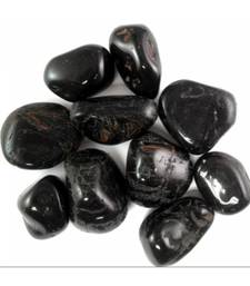 Black tourmaline tumbled stone set of 3 root chakra healing crystal gemstone