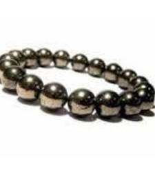 Buy Golden pyrite 6mm bead bracelet chakra healing crystal gemstone jewellery other-gemstone online