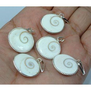 Gomti chakra spiral set of 5 pendant prosperity chakra healing jewellery