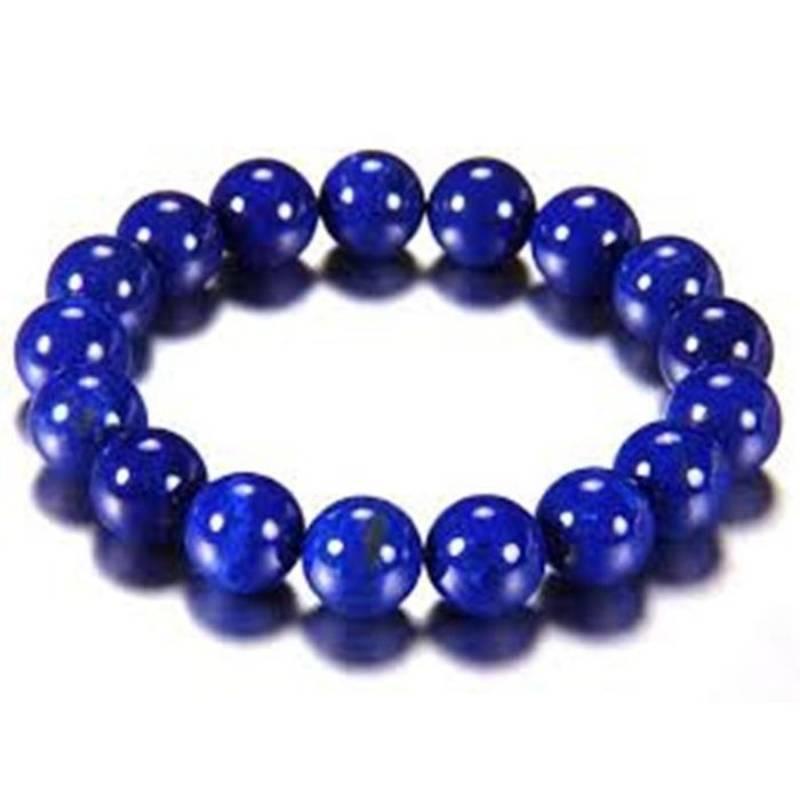 Kanjivaram Beads: Lapis Lazuli 6mm Bead Bracelet Throat Chakra Healing