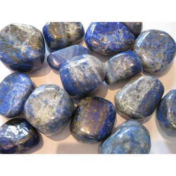 Lapis lazuli tumbled stone set of 5 stone chakra healing crystal gemstone