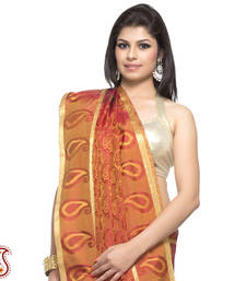 Buy Rust Orange Pure Silk jacquard Saree with Resham work gifts-for-mom online