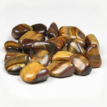 Tiger eye tumbled stone set of 7 healing crystal gemstone jewellery
