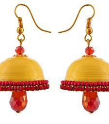 Buy Hancrafted Yellow Hook Jhumka jhumka online