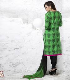 Buy Black and Fluoroscent Green Soft Straight fit digital print Suit gifts-for-mom online