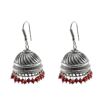 Oxidized Handmade Jhumka Earrings-Tribal Jewellery-Jaipur Jhumki
