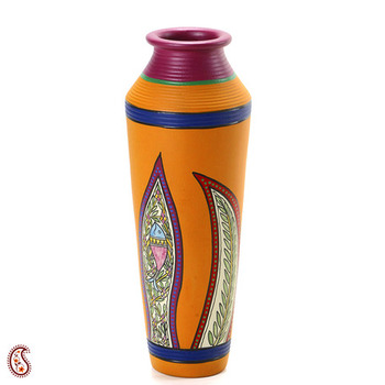 Handcrafted Worli Painted Terracotta Vase