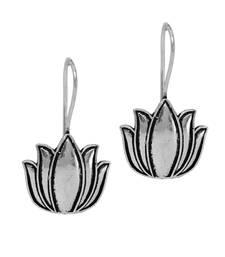 New Lotus Leaves Handmade Indian TraditionalOxidised Stud Earrings