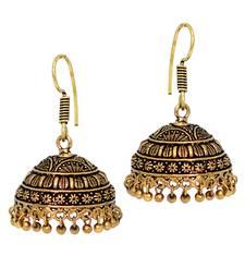 Amazing Indian Jhumki Oxidised Black Metal Handmade Earrings