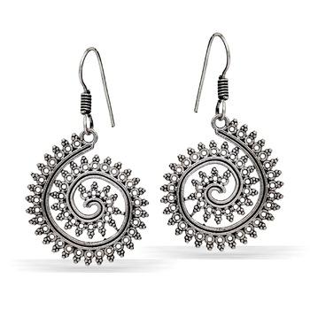 Jaipur Mart German Silver Oxidised Trendy Design Light Weight Dangler Earring For Girls