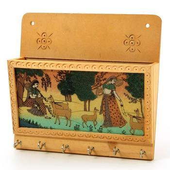 Gemstone painting key magazine holder gift