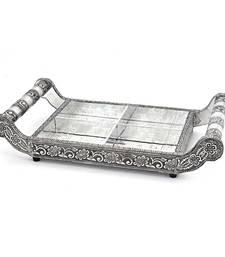 Pure white metal dryfruit tray handicraft gift