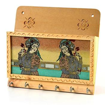 Gemstone painting magazine keychain holder