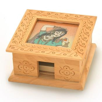 Gemstone painting slip pad box handicraft gift