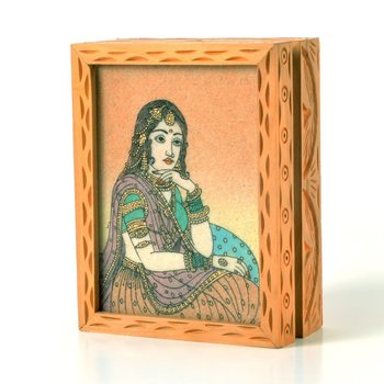 Precious gemstone painting jewelry box gift