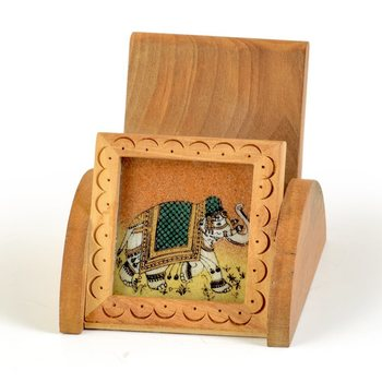 Gemstone painting wooden mobile stand gift