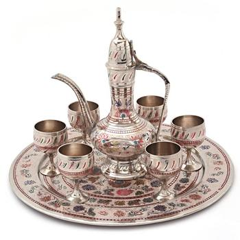 White metal antique royal wine set handicraft