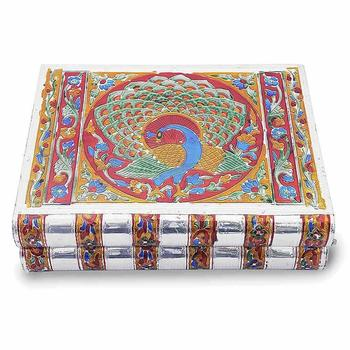 Metal colorful meenakari work jewellery box