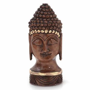 Antique handcrafted lord buddha in carved wood