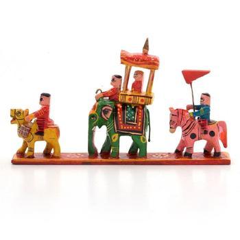 Royal maharaja procession wood handicraft item