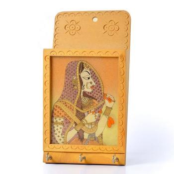 Jaipuri gemstone painted key n letter holder