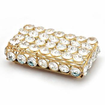 Traditional unique designer brass crystal box