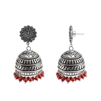 Oxidized Handmade Ganesha Jhumka Earringstribal Jewelleryjaipur Jhumki