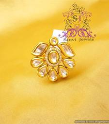 Buy Unique Kundan & Diamond Ring Ring online