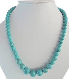 Buy Turquoise aura howlite beads necklace for women gemstone-necklace online