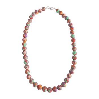 Multi Color Plain Round Mosaic Beads Necklace