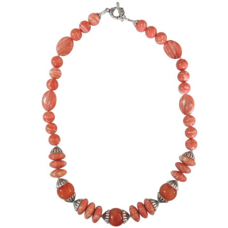 Kanjivaram Beads: Mosaic ,quartzite Beads Designer Necklace