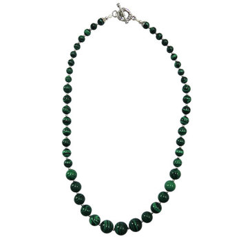 Green color mosaic beads journey necklace