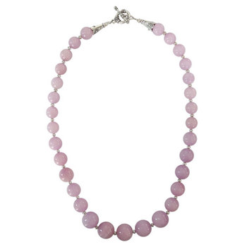 Pink- color dyed quartzitebeads