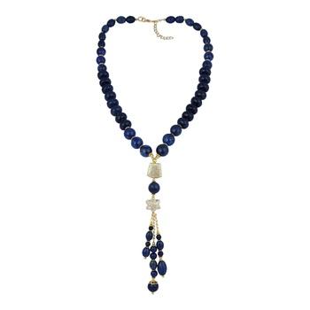 Gorgeous round, roundel, rice, drum shaped dyed lapis lazuli g...