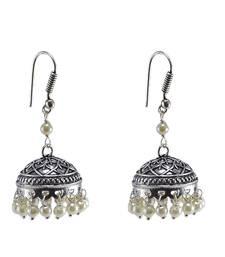 Oxidized Handmade Jhumka EarringsTribal JewelleryJaipur Jhumki