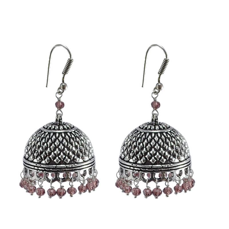 Kanjivaram Beads: Indian Classical Designed Traditional Vintage Jhumkis With
