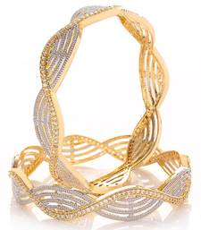 White cubic zirconia bangles-and-bracelets