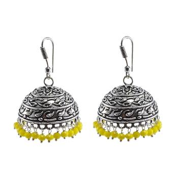 Handmade Texture Round Jhumka Earringsfashion Wear Jewelry Collections