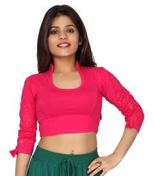 Buy Hotpink hosiery stretchable solid readymade blouse readymade-blouse online