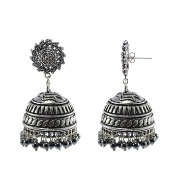 Black Beaded Jewellery Jhumkas