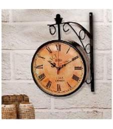 buy circular analog brass wall clock wall clock online - Designer Wall Clocks Online