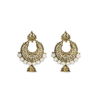 Designer Chandbali Jhumka Elegant Earrings For Women