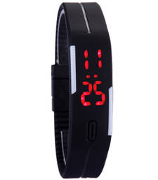 Buy Black colour latest rubber strap led watch kids-watch online