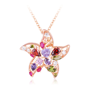 Multicolor Cubic Zirconia Pendants
