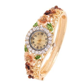 Multicolor cubic zirconia watches