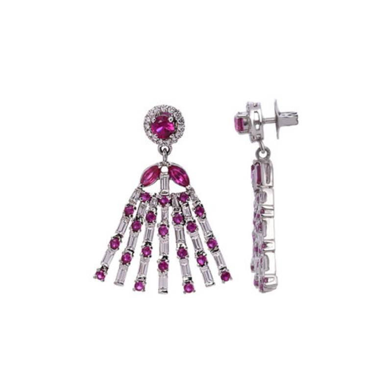 Buy 4ct Red Onyx Semi Precious Gemstone Earrings Online