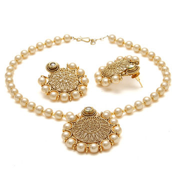 Gold Cubic Zirconia Necklace Sets