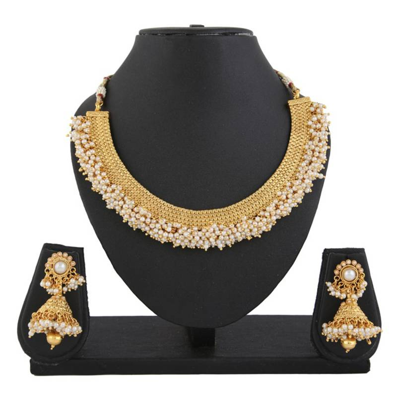 Gold Pearl Necklace Sets Jewels Galaxy 1568311
