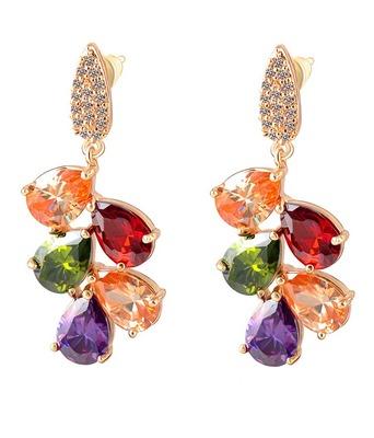 Multicolor Cubic Zirconia Earrings