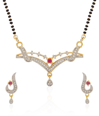 Pink Cubic Zirconia Mangalsutra